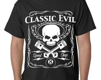 Classic Evil Biker Mens Tshirt - #B441