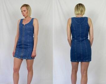 Vintage 90's Denim Bodycon Dress