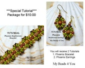 Jewelry Making,PDF Earring Tutorial,SuperDuo Tutorial,Seed Bead Pattern, Beaded Bracelet Tutorial, Beading Tutorial and Patterns,MyBeads4You