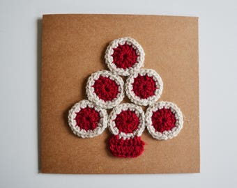 Crochet Christmas Tree Christmas Card