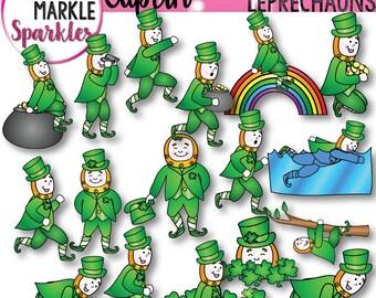 Saint Patrick's Day Clipart, Leprechaun Clipart, Pot of Gold Clipart, Shamrock Clipart, Rainbow Clipart, March Clipart, Irish Clipart