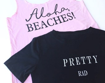 Printed Tops - Aloha Beaches - Pretty Rad