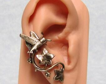 Forest Ivy Ear Cuff Humming Bird ' Right Ear '