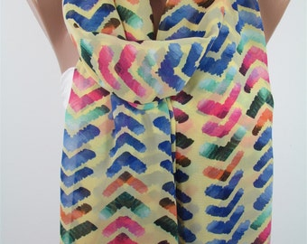 Scarf Yellow Scarf Shawl Wrap Arrow Scarf  Fashion Accessories Boho Infinity Scarf Loop Birthday Gift Valentines   Gift Gift For Women