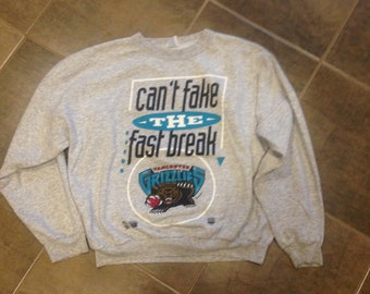 "1994 Vancouver Grizzlies ""Can't Fake the Fast Break"" Sweater, Size Small"