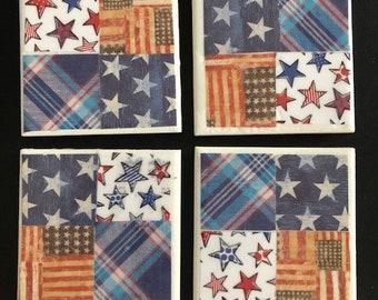 Patriotic Ceramic Coasters