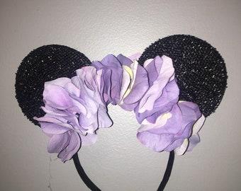 Purple princess flower ears