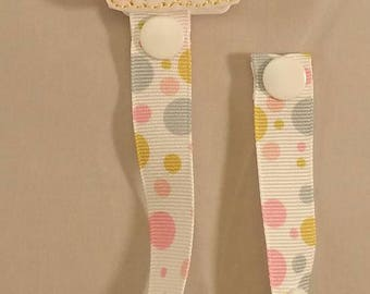 Baby Pacifier Clip/Girl Puppy Pacifier Clip