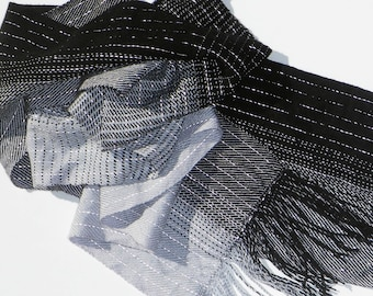 Black and Silver Transitions Reflective Scarf