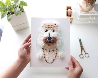 Custom Dog Portrait, Labradoodle Portrait, Goldendoodle Portrait