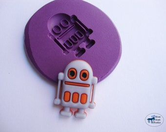Robot Mold 2 - Android Mold - Silicone Molds - Space - Polymer Clay Resin Fondant Soap Wax Candy