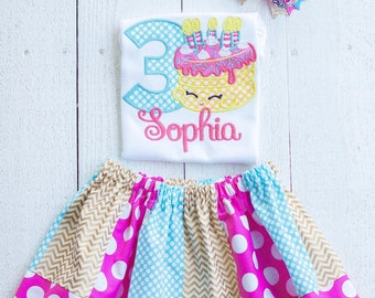 Cake Birthday Outfit gold-Personalized