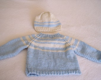 Baby Pullover and Hat Set
