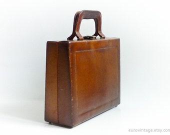 Antique Leather Handbag Leather Beauty Case Bag