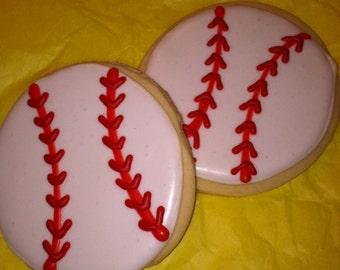 Baseball Cookie Favors-2 Dozen
