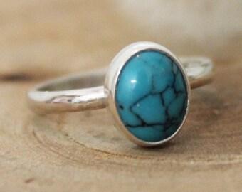 Turquoise Gemstone Stacking Ring