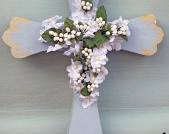 Wood Cross, Religious, Easter Decor, Spring Decor