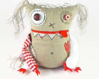 Worry Monster Doll, Anxiety Relief, Stuffed Monster Toy, Halloween Gift, Personalized Monster Doll
