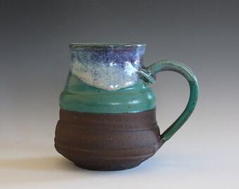 LARGE Pottery Mug, 20 oz, handmade ceramic cup, handthrown mug, stoneware mug, pottery mug, unique coffee mug, ceramics and pottery