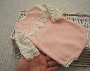 Newborn Romper, Baby Girl Clothes, Newborn Photo Prop, Newborn Props, Pink, Lace, Photography Props, Baby Shower Gift, Newborn Photo Outfit