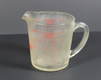 Fire King 2 Cup Measuring Cup - Vintage Fire King Measuring Cup