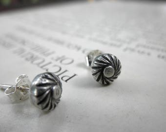 Southwest Studs, Swirling Studs, Decorative Shot Studs, Silver Shot Studs, Silver Studs, Southwest Earrings, Silver Earrings