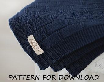 Baby Blanket Knitting Pattern in English, Baby Blanket Pattern, Knit Baby Blanket Pattern, Knitted Baby Pattern, Download PDF Pattern