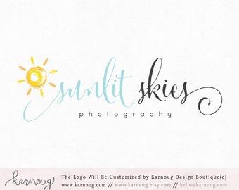 Sun Logo Sun Watermark Photography Logo Premade Logo Watermark Logo Business Logo Branding Logo Custom Logo Logos and Watermarks