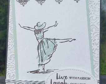 Handmade Happy Birthday, Any Occassion Card, STAMPIN' UP! Beautiful You
