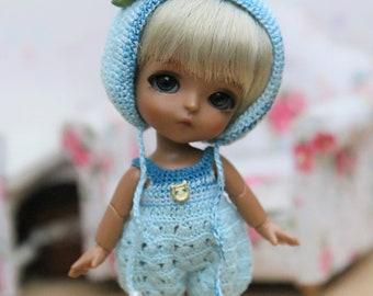 Blue set  for lati white\bjd doll 9 cm