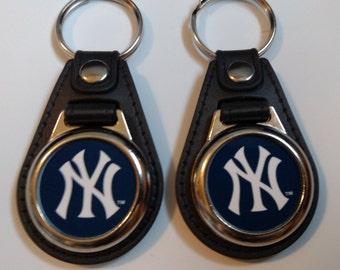 New York Yankee  baseball keychainns 2 pack