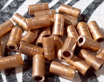 Copper Tube Beads 1/2 Inch 10 pcs Handmade USA from Reclaimed Metal, Spacer Beads Solid Raw Copper Jewelry Making Supply Bead Metal Tubes