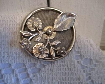 Vintage Floral Pattern Hair clip
