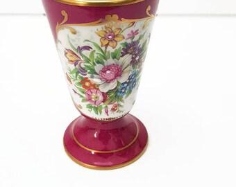 Vintage français Couleuvre mazagrans en porcelaine