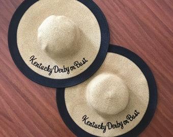 Black Kentucky Derby Hat - Kentucky Derby Statement Floppy Hat - Bachelorette Party