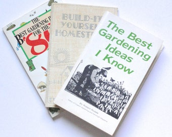 Build it yourself etsy 3 books the best gardening ideas i know build it yourself homestead the best gardening ideas for the 80s robert rodale rodale press solutioingenieria Images