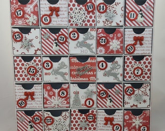 Red and White Christmas Countdown / Advent Calendar