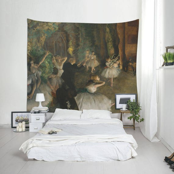 Degas Edgar Degas-Druck große Wand-Dekor Wandteppich Deko