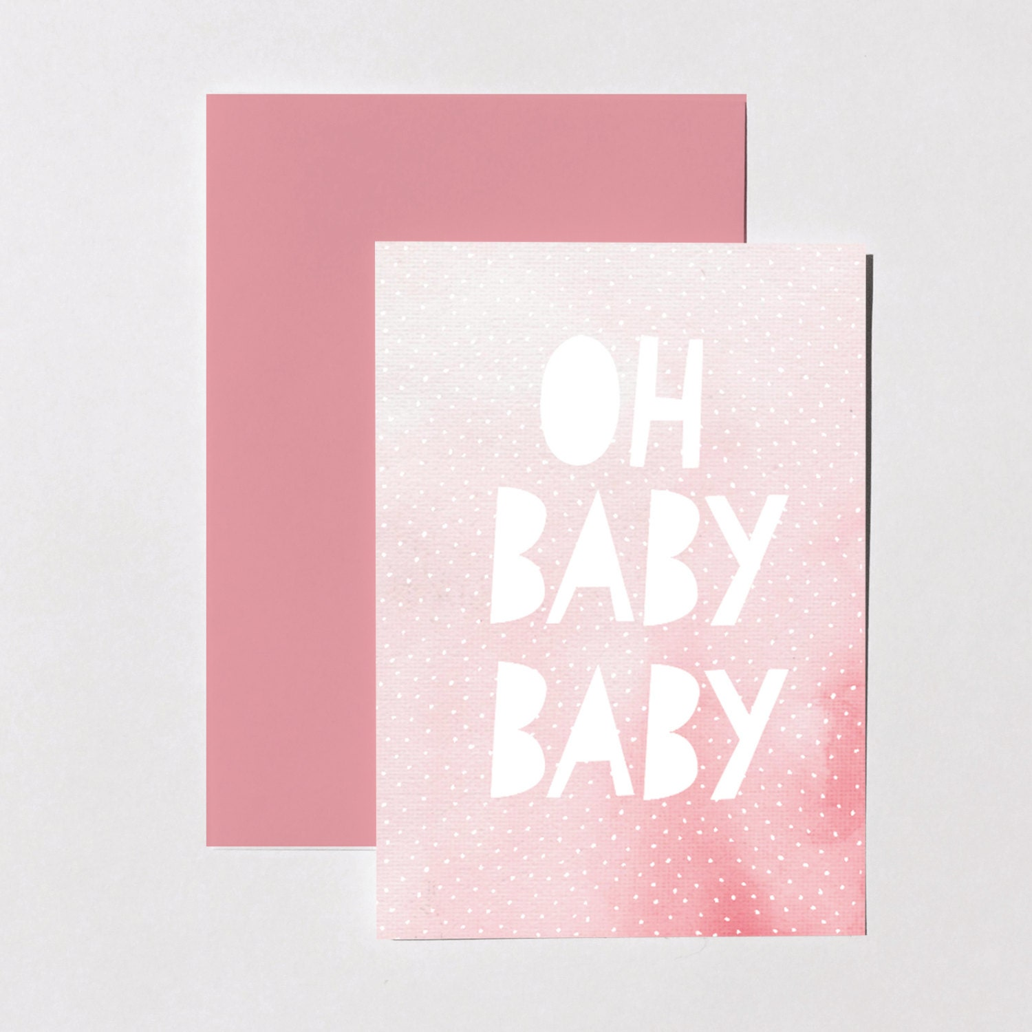Sale 50off New Baby Card Pink Greeting Card For Newborn