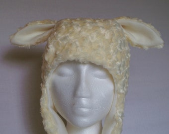 Lamb Earflap Hat soft baby sheep
