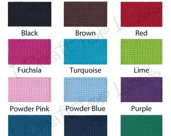 """5 yards Cotton Webbing - 1.25"""" Heavy Weight for Key Fobs, Purse Straps, Belting - SEE COUPON"""