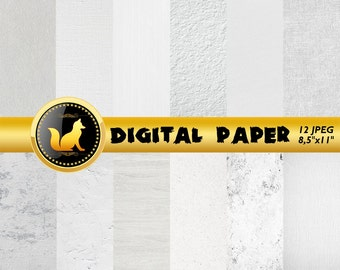White Paper,White Background,Girls background,White Texture,Digital Paper,White wood Pattern,White grunge pattern,White leather paper,wood