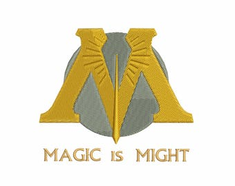 Project based on the idea of the Harry Potter saga - Ministry of Magic: Machine embroidery design