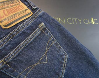 Vintage Jeans. Z Cavaricci. Women's Jeans. Rare. Size 25. Authentic Popular 80's Brand Jeans. Retro Denim. Clean Sexy Cut. Urban Streetwear.