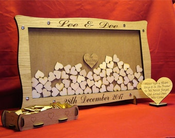 Wedding Drop Box / Engagement / Retirement/ Anniversary / Personalised Heart Guest Book