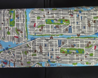 Out Of Print Fabric - Moda's New Passport Fabric - Novelty New York Map Multi - 33010 18