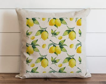 Lemon Background 20 x 20 Pillow Cover // Summer // Everyday // Tropical  // Fruit // Gift // Accent Pillow