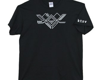 ktsv SALE! mens design black T-shirt