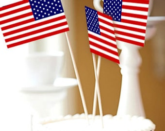 American Flag Cake Toppers