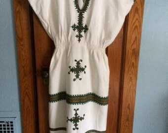 Ethnic Tribal Caftan Maxi Dress 70's